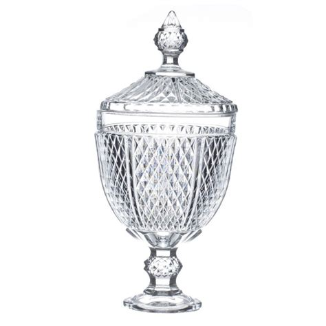 bonbonniere maison du monde bonbonni 232 re en verre quot diamant quot 34cm transparent