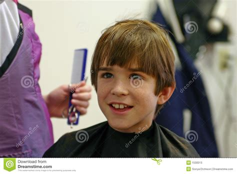Boy Getting A Haircut Stock Image. Image Of Barber, Handsome Side Fade Haircut Black Man Short Pageboy Haircuts Long Hair Bob Wolf Dog How To Get Neymar Golden Retriever Design Cute College