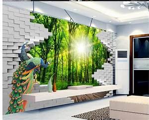 Carta Da Parati Murales : carta da parati 3d parete di verde foresta 3d wallpaper murale carta da parati adesivi murali ~ Frokenaadalensverden.com Haus und Dekorationen