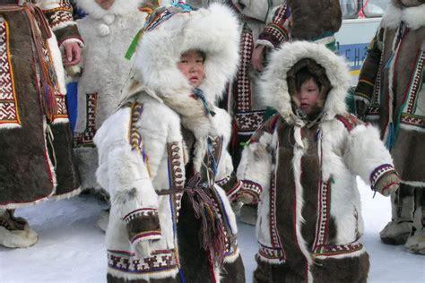 Nenet children Siberia Russian culture Russia