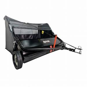 New Tow Behind Lawn Sweeper Yard Mower Tractor Leaf Grass