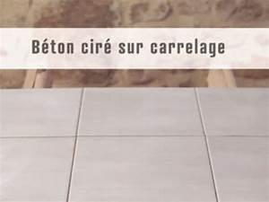 appliquer du beton cire sur un carrelage arcane industries With béton ciré sol sur carrelage