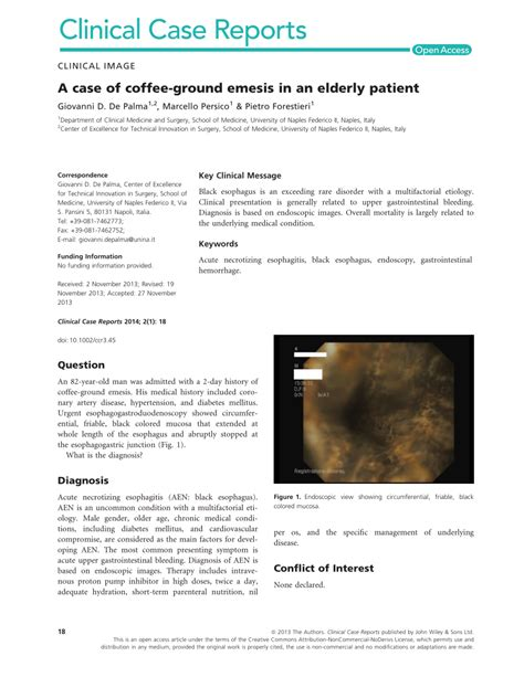 Bleeding in the stomach may have many causes but yes, needs eval: (PDF) A case of coffee-ground emesis in an elderly patient