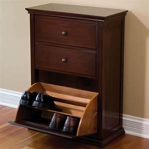 The Hideaway Shoe Cabinet - Hammacher Schlemmer