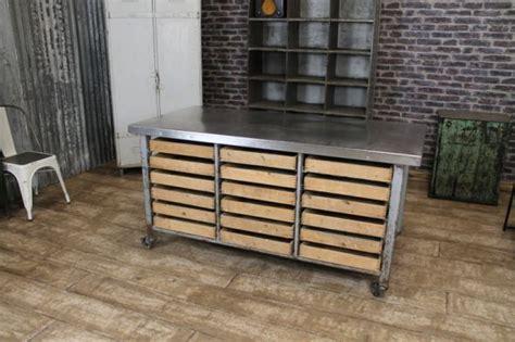stainless steel kitchen island uk industrial kitchen island vintage steel table storage 8257