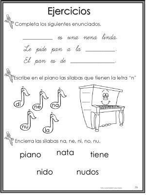 50 Ejercicios De Lectoescritura Para Preescolar Y