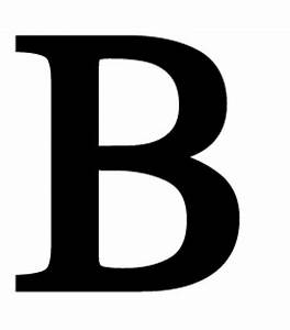 letter b large With large b letter