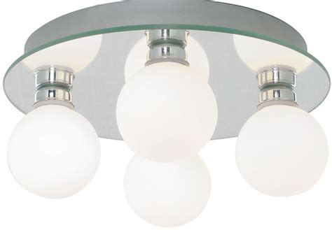 traditional 4 l globe flush bathroom ceiling light 4337