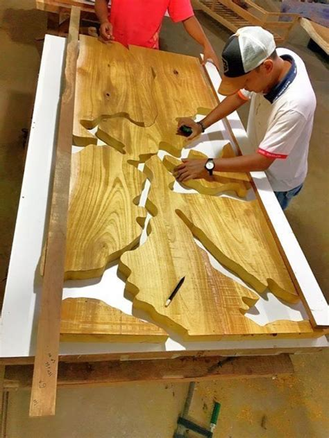 process making resin table wood resin table wood table