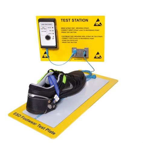 heavy duty wall mounted somerset esd esd wrist and footwear test station