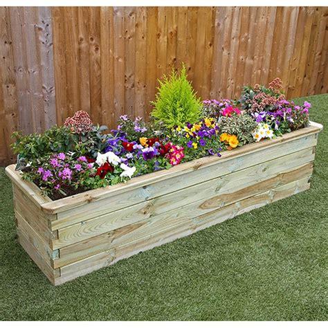 plants for garden beds zest 4 leisure 1 8m deep wooden sleeper raised bed planter internet gardener