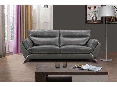 canapé en cuir conforama canapé fixe en cuir 3 places coloris gris conforama