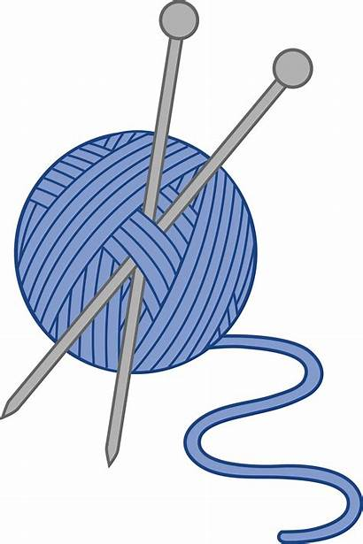 Needles Clip Clipart Knitting Yarn Library