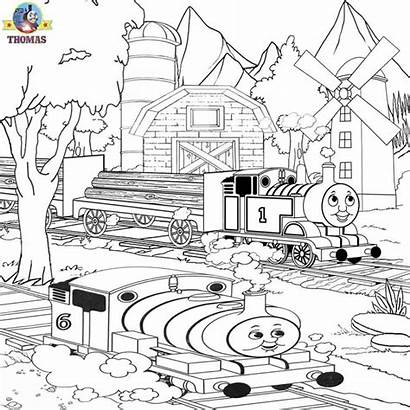 Thomas Rescue Misty Island Percy Train Coloring