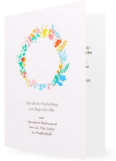 jugendweihe einladungskarte vorlagen familieneinladungende