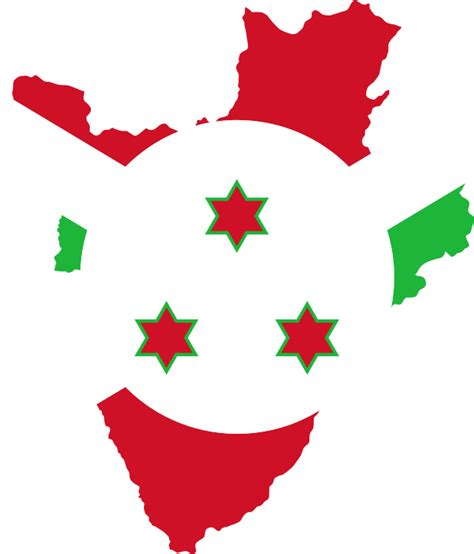 Clipart - Burundi Flag Map