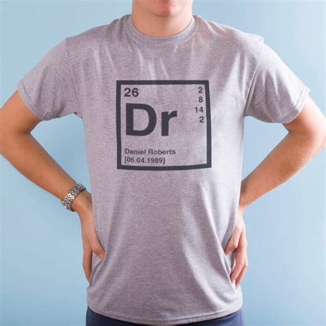 periodic table t shirt personalised periodic table t shirt by oakdene designs