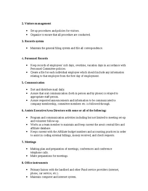 office coordinator description office manager description hashdoc