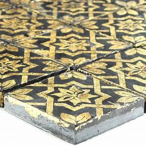 Mosaik Fliesen Schwarz : schiefer mosaik fliese blattgold schwarz lz69180m ~ Eleganceandgraceweddings.com Haus und Dekorationen