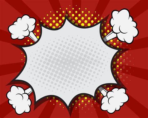 Photo About Comic Book Speech Bubble Pop Art Cartoon Red