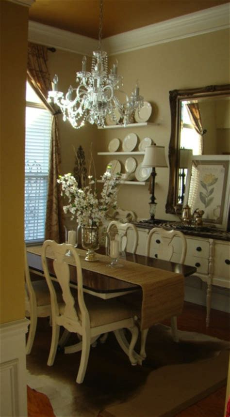newly white painted furniture traditional dining room