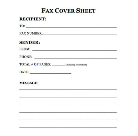 14479 fax cover sheet exle free printable fax cover sheet template pdf word