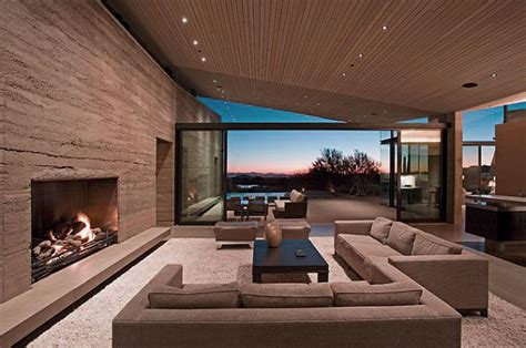 Awesome Modern Living Room With Rammed Earth Texture Wall Home Decorators Catalog Best Ideas of Home Decor and Design [homedecoratorscatalog.us]