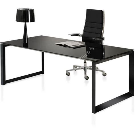 bureau noir bureau design en verre milly