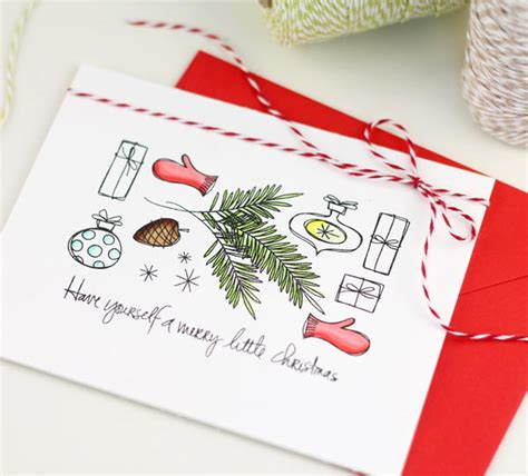 stamp set diy christmas card allfreechristmascraftscom