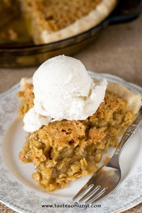 traditional amish oatmeal pie recipelioncom