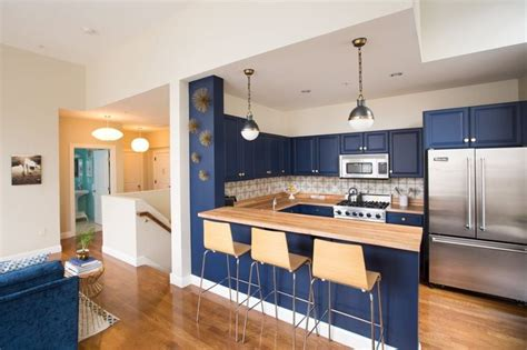 blue cabinets kitchen 1722 best decorating apartments condos small houses 1722