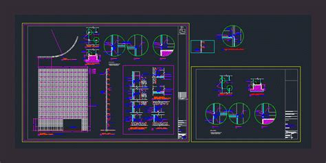 curtain wall dwg full project  autocad designs cad