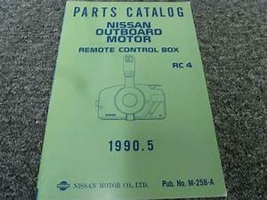 1990 1991 Rc 4 Outboard Motor Remote Control Box Parts Catalog Manual Book