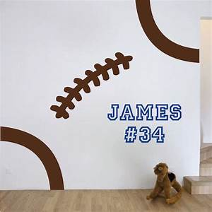 football wall decal sports vinyl wall decals stickers With football wall decals