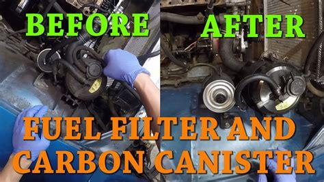 datsun  ep replacing  fuel filter  carbon