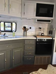 25 best ideas about camper renovation on pinterest With kitchen colors with white cabinets with happy camper sticker