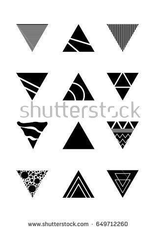 Vector Abstract triangle background Design Template