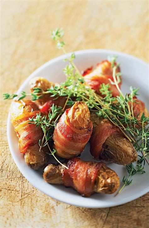 habit de cuisine recette rattes rôties en habit de bacon
