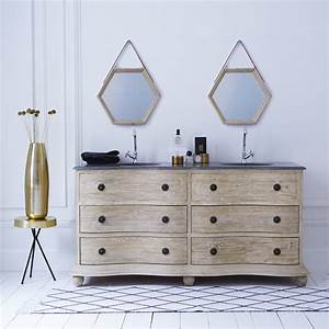 meuble double vasque en pin hermione meubles en With meubles double vasque salle de bain