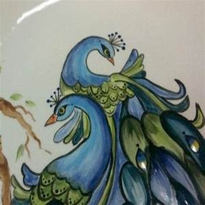 Glass Paintings Of Peacock Outlines | www.pixshark.com ...