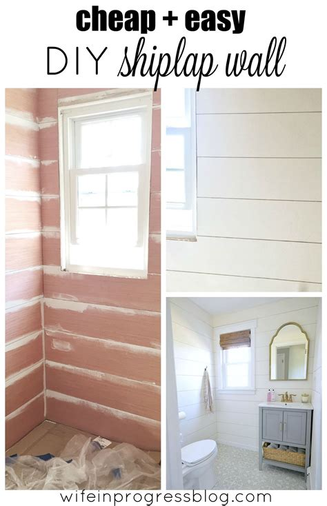 Easy Shiplap by Beautiful Shiplap Walls From Cheap Plywood Hometalk