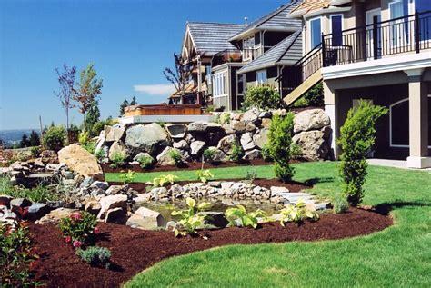 landscaping a sloped front yard landscapes ideas sloped front yard landscaping ideas small backyard landscaping ideas on a