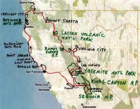 Northern California Road Trip Map