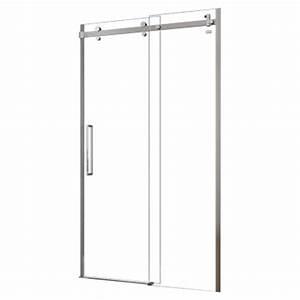 porte de douche coulissante sans cadre halo 48quot x 78quot rona With porte de douche rona