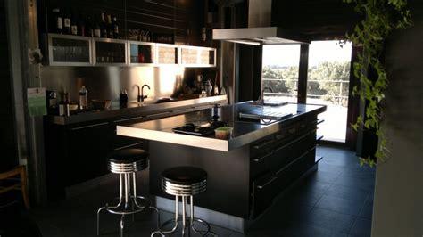 cuisine bois inox stunning cuisine bois noir inox ideas design trends 2017