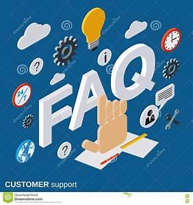 Customer Support  Tutorial  User Guide  Faq Vector Concept