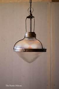 Antique Brass And Glass Pendant Light Free Shipping Farmhouse Pendant Light Rustic