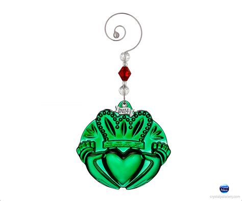 waterford 2014 claddagh christmas ornament green