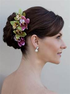 Bride Hair With Flowers Orchid Hair Flower Giselle