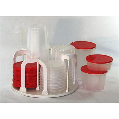 plastic  piece kitchen containers  carousel rack